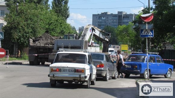 На замітку водіям Житомира: вулиця Бородія перекрита. ФОТО