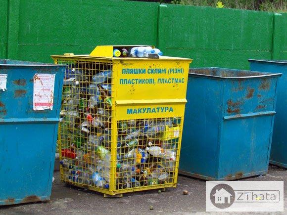 У Житомирі на Крошні ввели роздільний збір сміття +ФОТО