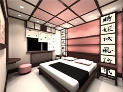 Дизайн спальной комнаты по японски
