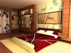 Дизайн спальной комнаты в стиле арт-деко