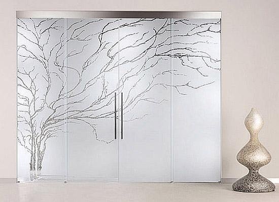 Скляні двері в інтер'єрі. Фото
