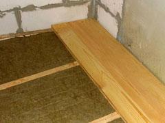 Утеплення підлоги