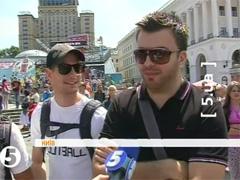У центрі Києва відкрилася фан-зона до Євро-2012. ВІДЕО