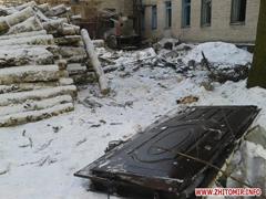 У Житомирській області від вибуху котла вилетіли вікна і двері в дитячому садку. ФОТО