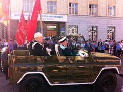 У Житомирі святковим парадом відзначають День перемоги. ФОТО