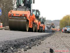 Ремонт дороги Житомир-Бердичів: нижній шар вже є, асфальтобетон покладуть наступного року. ФОТО. ВІДЕО