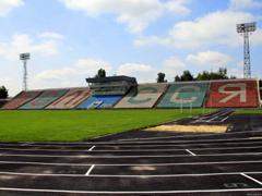 Ремонт стадіону «Полісся» в Житомирі продовжується, виконано 50% робіт. ФОТО