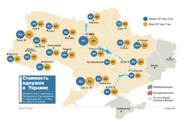 По Україні дешевшають квартири: міста і вартість