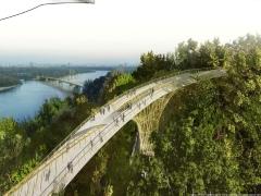 Проект мосту між Хрещатим парком і Володимирською гіркою коштуватиме 2 мільйони 650 тисяч гривень