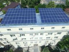 У Солом'янському районі запустили першу у Києві сонячну станцію на даху бюджетної будівлі