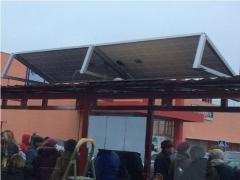 У Києві встановили сонячні панелі на зупинках