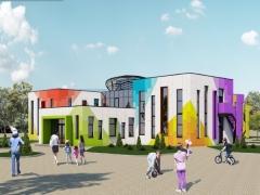 У селищі на Дніпропетровщині будують дитсадок за європейським проектом: біопаливо, сонячні батареї та природне освітлення